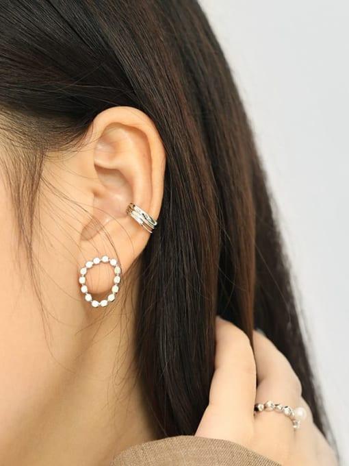 Dak Phoenix 925 Sterling Silver Irregular Minimalist Huggie Earring [Single] 3